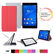 Sony Xperia Z3 Compact Tablet Case Cover, FYY® Smart Cover Folio Case for Sony Xperia Z3 Compact Tablet Red (With Auto Wake/Sleep Feature)