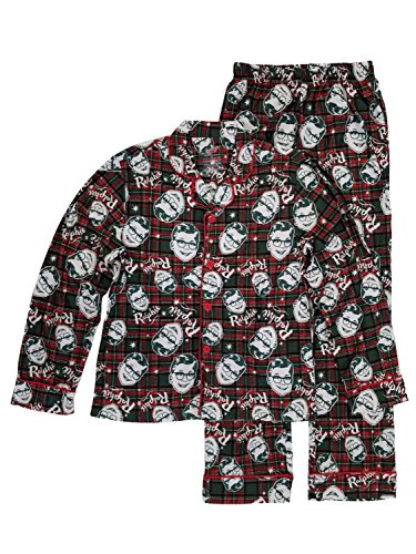 Christmas Story Men's Ralphie Coat Front Pajama Set, Multi, XXL]()