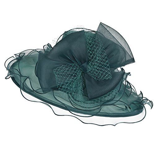 Original One Women's Organza Hats KDW1701 for Kentucky Derby Day, Church, Wedding, Tea Party and More Formal Occasion