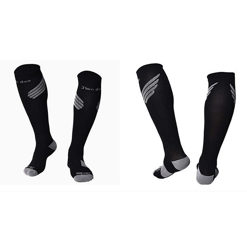 8f4dce59c ... Black Graduated Compression Compression Compression Socks Men's Compression  Socks Pack of 1Pair Sports Stockings for Running ...