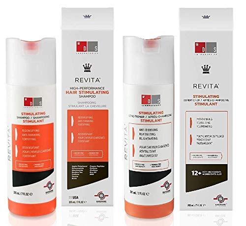 Ds LAB Revita High-Performance Hair Stimulating Shampoo and Conditioner, 7 Ounce / 205 Milliliter (Ds Laboratories Revita Cor Hair Stimulating Conditioner)