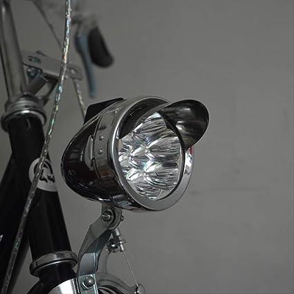 Bicycle Front Light Retro Bike Head Lamp Old Style Light Metal Head Light