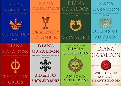 Diana Gabaldon Outlander Series 8 Book Set (1- 8) (Living Books Series)