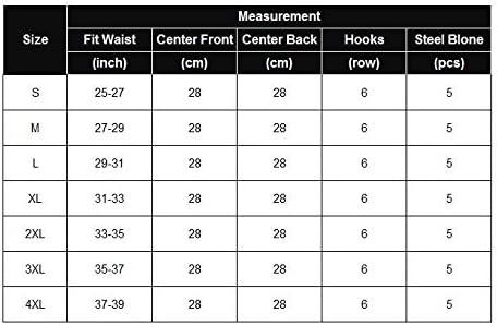 Waist Cincher Tummy Shaper Girdle 6 Hooks Chemises AIMADO Workout Waist Trainer Corset