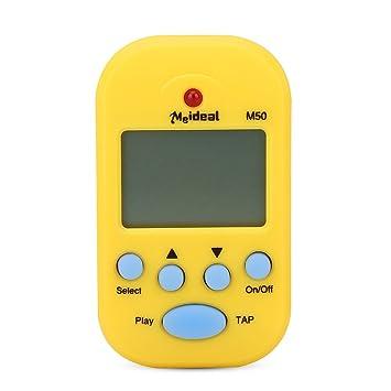 Mini Metronome, M50 LCD Digital Beat Tempo for Piano, Violin, Guitar, Trap  Drum(Yellow)