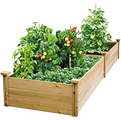 "Best Value Cedar Raised Garden Bed Planter 24"" W x 96"" L x 10.5"" H"