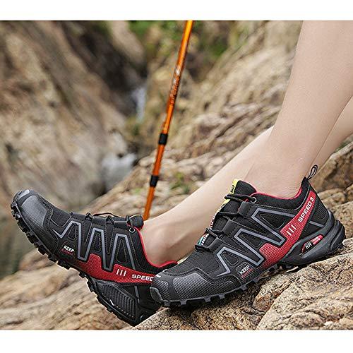 Zapatos Trekking Hombre Tamaño Gran Libre Senderismo Escalada Aire Ocasionales Zapato Deportes Montaña Mocasín Para Antideslizante De Deportivos Gimnasia Red Al rzAqrf