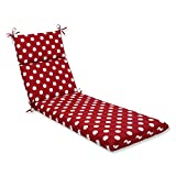 Pillow Perfect Indoor/Outdoor Red/White Polka Dot Chaise Lounge Cushion Review