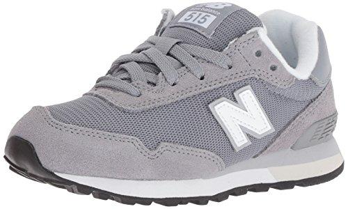 New Balance Boys' 515v1 Sneaker, Grey/White, 6.5 W US Big Kid
