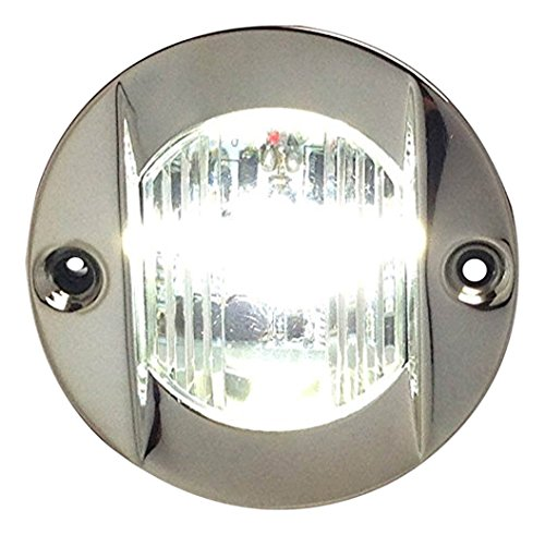 Pactrade Marine Boat Transom LED Stern Light Stainless Steel Splash Proof Flush (Led Round Transom Light)