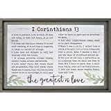 P. Graham Dunn The Greatest is Love Scripture Slate Grey 37 x 25 Pine Wood Dimensional Plaque