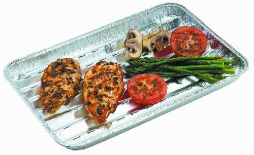 Nicole Home Collection 03270 3 Count Aluminum BBQ Grill Pans, Silver by Nicole Home Collection (Image #2)