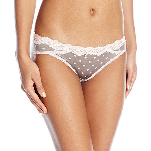 Maidenform Women's Sexy Must Haves Bikini Panty, Gentle Steel Dot Gentle Peach, Large/7