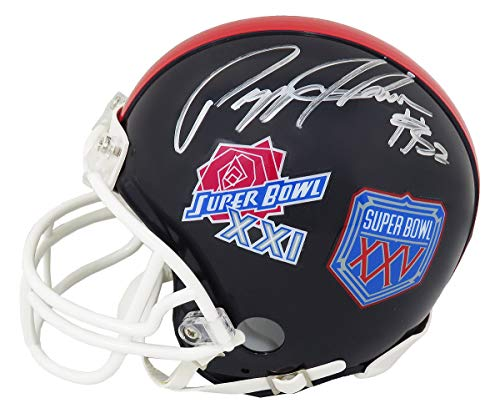Pepper Johnson Signed New York Giants Super Bowl XXI & XXV Champs Logo Riddell Mini Helmet