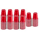 100pc Red Cup Mini Party Shot Glasses Set (2-Ounce) Great for Parties, Picnics, Tailgates, BBQ's, and Super Bowl Parties!