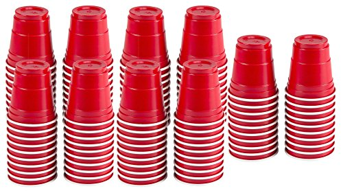 2oz MINI RED PARTY CUPS 100 total (5 packs of 20) Perfect for Liquor Shots