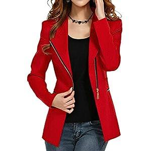 Aro Lora Women's Autumn Oversize Slim Fit Bodycon Zipper Suit Coat Jacket Blazer Outwear 24
