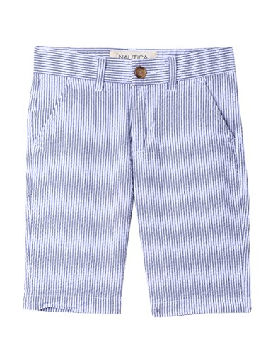 Nautica Boys' Big Solid Flat Front Short, Levi Navy, ()