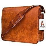 Urban Leather Laptop Computer Messenger Shoulder Bag for Men Women Boys Girls Size 14 Inch
