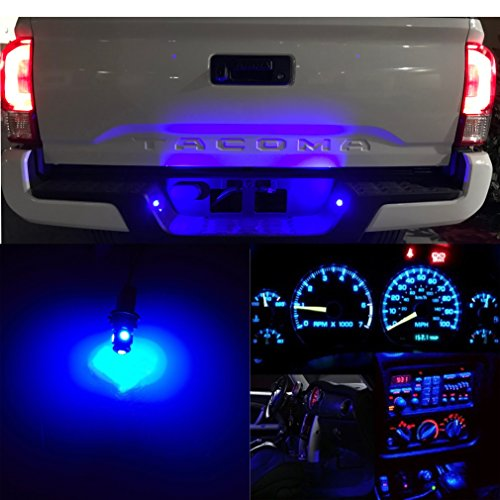 LED Monster – LED License Plate Lights Replacement Kit For 1995-Present Toyota Tacoma – T10 Wedge 194 168 2825 W5W 175 6000K Ice Blue