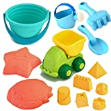 Joyin Toy Beach Sand Toy Sandbox Accessories Including Mini Dumper, Beach Bucket, Watering Can, Shovel and Rake, Models and Molds