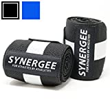 """Synergee Wrist Wraps 18"""" by 3"""" Professional Grade with Thumb Loops - Wrist Support Braces for Men & Women - Weight Lifting, Crossfit, Powerlifting, Strength Training"""