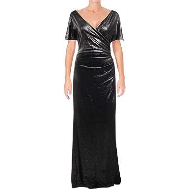 5f1b3951c78 LAUREN RALPH LAUREN Womens Darion Glitter Slit Sleeves Evening Dress ...