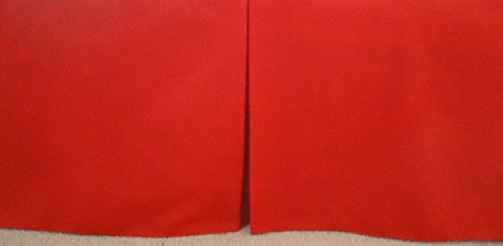 Fits Toddlers Bed Box-Pleat Baby Crib Skirt 15 inches long. Solid Primary Red Crib Skirt Tailored New