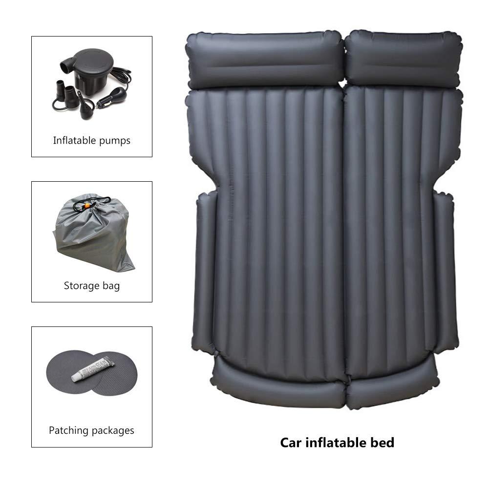 Environmental Material SUV Car Air Mattress Portable Car Camp Independent air Inflation Inflatable Car Mattress Black