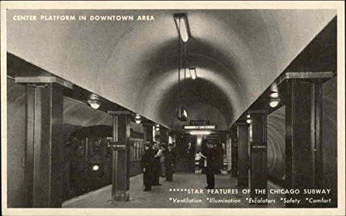 - Center Platform in Downtown Area - Chicago Subway Chicago, Illinois Original Vintage Postcard