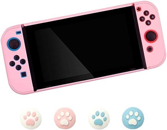 FKYNB Funda de Silicona for Nintendo Switch, Funda de Agarre esmerilada Funda de Cuerpo Completo Antideslizante con Tapas de Joystick (Color : Pink): Amazon.es: Hogar