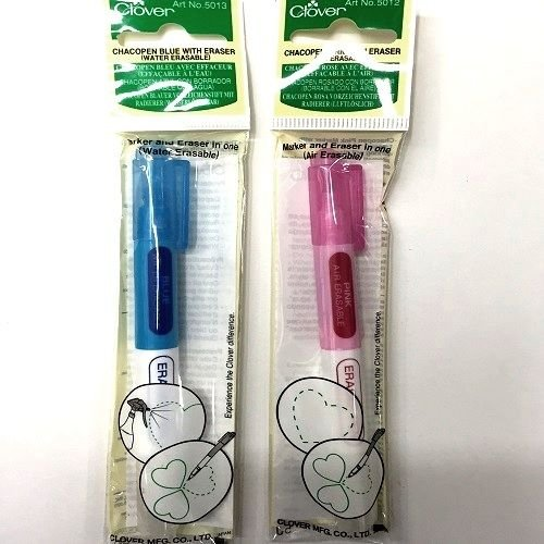 - Clover Chacopen Blue & Pink Erasable Pen With Eraser Set