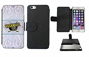 Nashville Ice Leather Phone Case Cover with Credit Card Holder Apple iPhone 6 Plus (5.5 Inches)