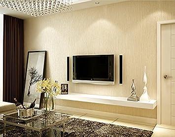 Vliestapete Wallpapers Modern Minimalist Schlafzimmer Wohnzimmer Esszimmer  Arbeitszimmer 3D Nahtlos Uni Farbe Tapete Beige