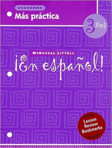 Amazon en espaol ms prctica cuaderno workbook with ms prctica cuaderno workbook with lesson review bookmarks level 3 spanish edition spanish workbook edition fandeluxe Images