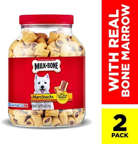 Milk-Bone MaroSnacks Dog Treats with Real Bone Marrow and Calcium
