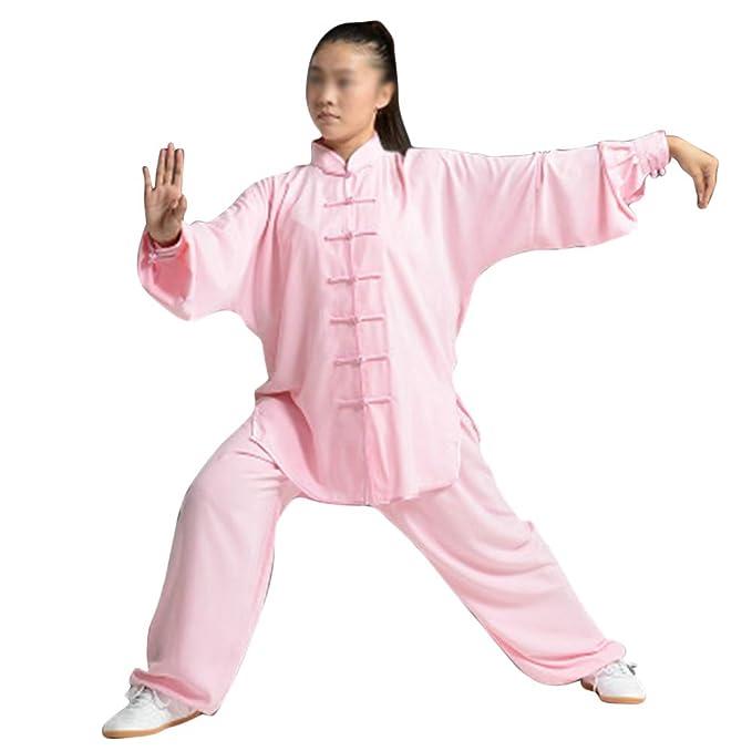 Mujer Unisex Artes Marciales Tai Chi Kung Fu Uniforme Ropa Hebilla ...