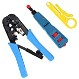 la 110 repair kit - Vastar Network Cable Repair Kit - Network Wire Punch Down Impact Tool, Dual-Modular Crimping Toolz
