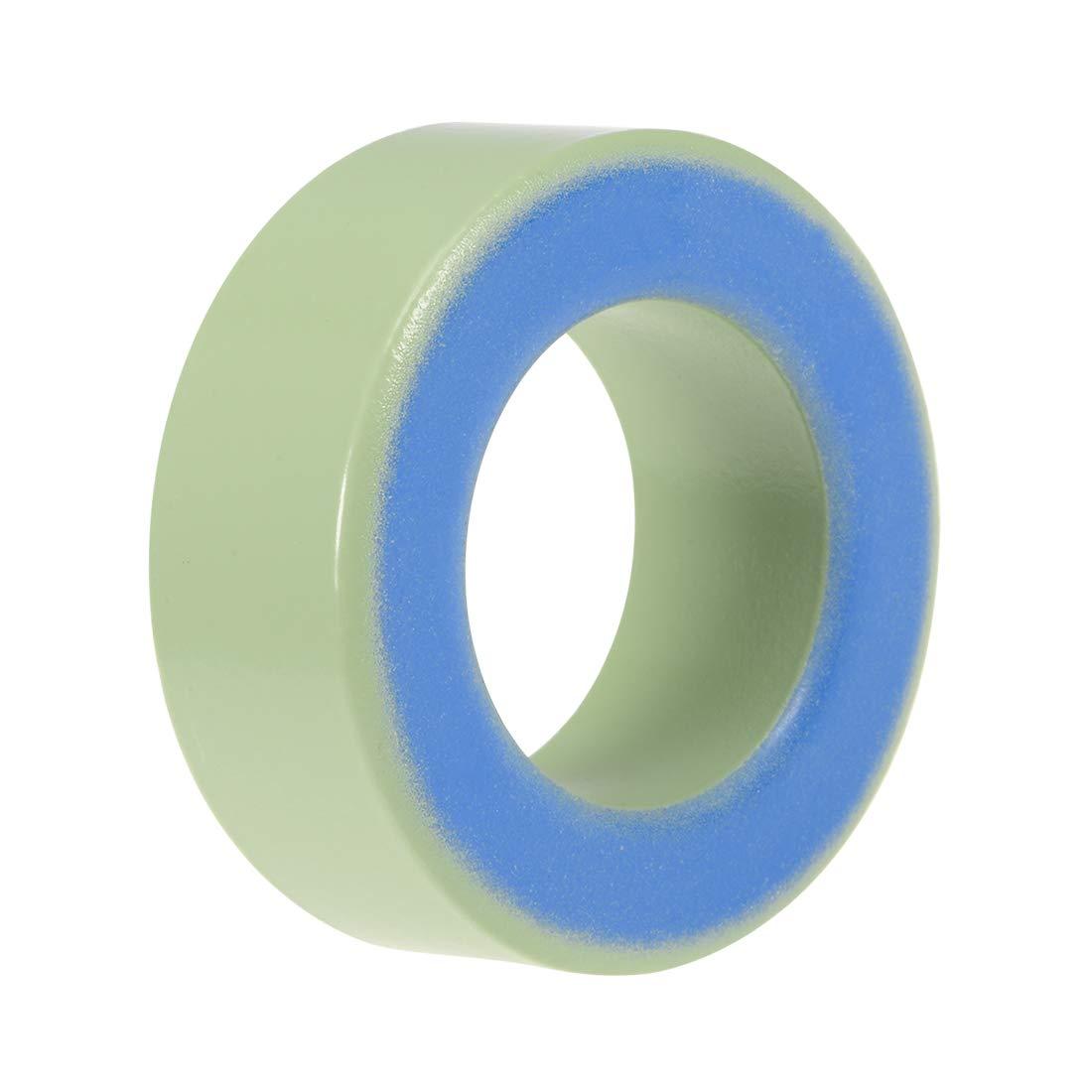 Yellow White 10pcs Ferrite Chokes Ring Iron Powder Inductor Ferrite Rings sourcing map Toroid Core 14 x 27.3 x 14.8mm