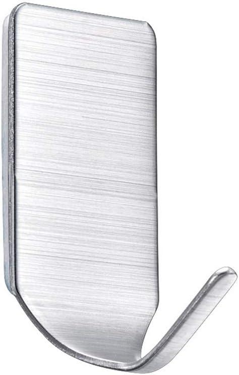 4 ganchos de acero inoxidable resistentes de viscosa para colgar en la pared engrosados ba/ño cocina sin perforaciones