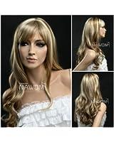 (WG-S418-15TT613) Long Wave Hair Wig, Golden Blonde color