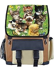 Cute Little Kittens School Backpack for Girls, Boys, Kids