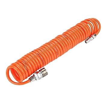 Tubo pneumatico PU per trasporto aria compressa da 3//6m Tubo flessibile pneumatico con connettore maschio//femmina da 1//4 di pollice 8 * 5mm*3m