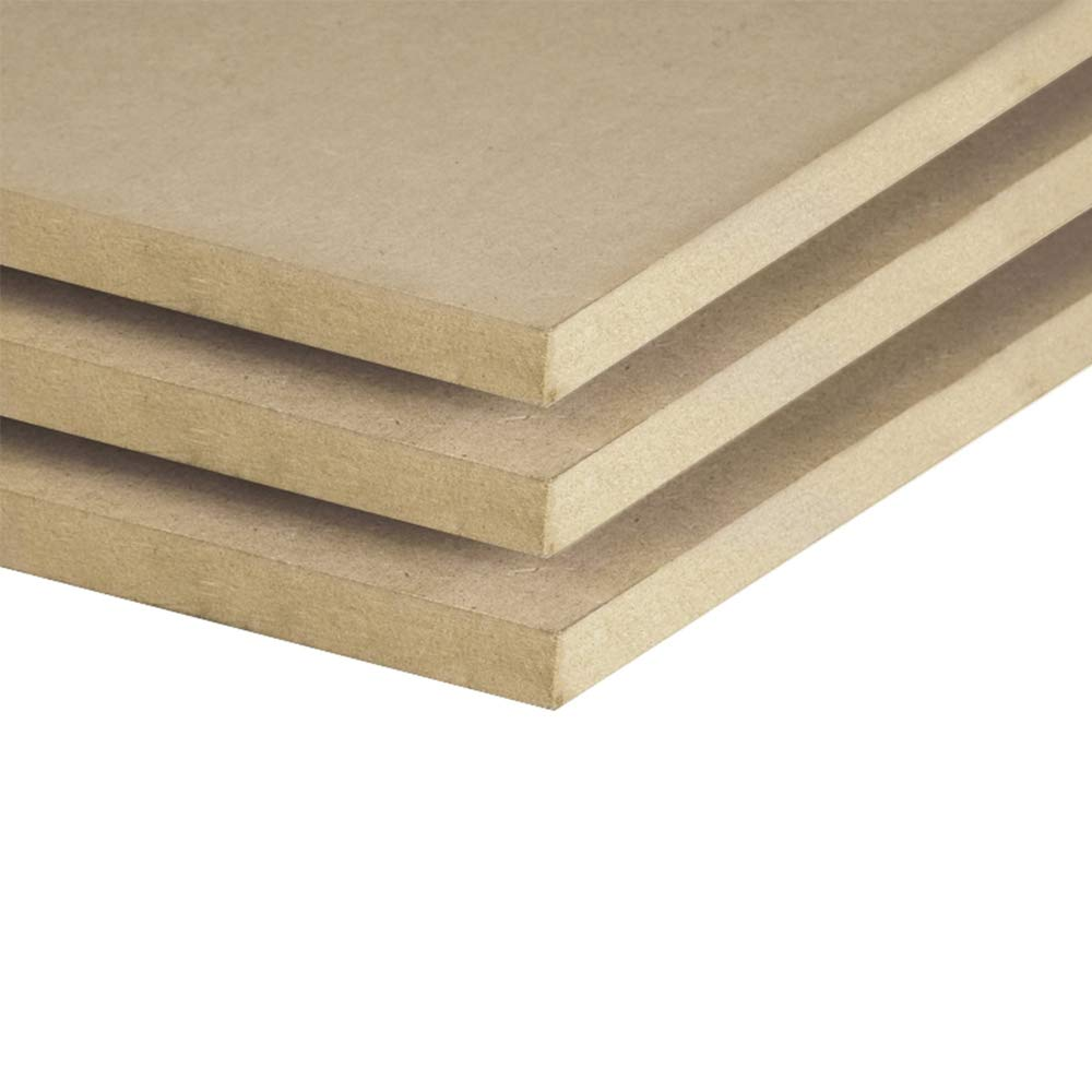 11 x 33 Inches - Unfinished MDF - 3 Pack - 3/4