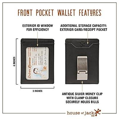 HOJ Co. Deacon ID BIFOLD Front Pocket Wallet-Full Grain Leather-Bifold Money Clip Wallet