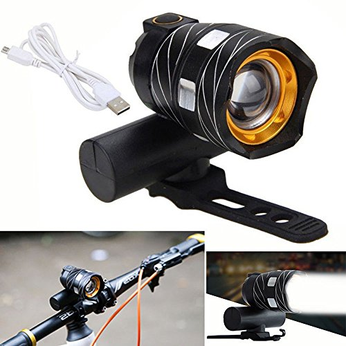 Oldeagle USB Rechargeable XML T6 LED Bicycle Bike Light Front Cycling Light Head Lamp