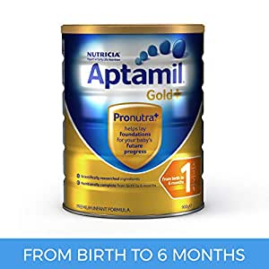 Aptamil Gold+ 1 Infant Formula for Birth to 6 Months Babies, 900g