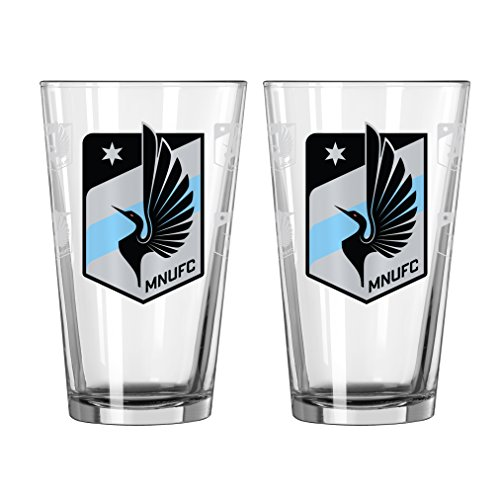 fan products of MLS Minnesota United FC Satin Etch Pint, 16-ounce, 2-Pack