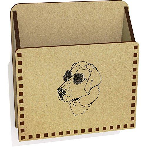 'Dog With Sunglasses' Wooden Letter Holder / Box - Sunglasses Dog Uk