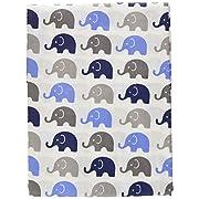 Elephants Blue/Grey Mini Elephants Curtain Panel